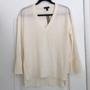 NWT J.Crew Merino Wool Sweater with Bell Sleeves